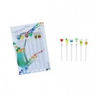 Mexedor de Coquetel c/ 06 peças em cores e formatos variados RH2005