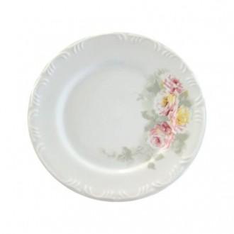 Prato Sobremesa 19 cm Porcelana Schmidt - Dec. Romântica Pomerode