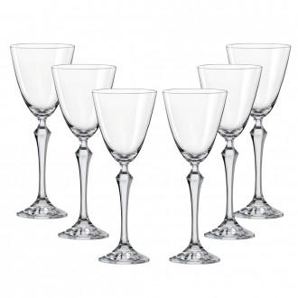 Conjunto de Taças para Vinho Branco Bohemia Elisabeth em Cristal 190 ml – 6 Peças
