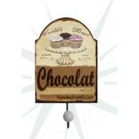 CABIDEIRO OLDWAY METAL TORTA CHOCOLAT 1 GANCHO 22x10x7cm