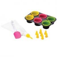 Conjunto para Cupcake Lyor Colorido - 14 Peças - 6248 - Lyor