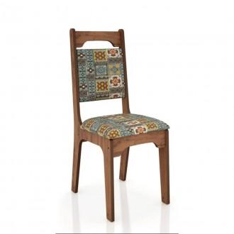 Conjunto 2 cadeira estofada 100% Mdf Ca29 Dalla Costa